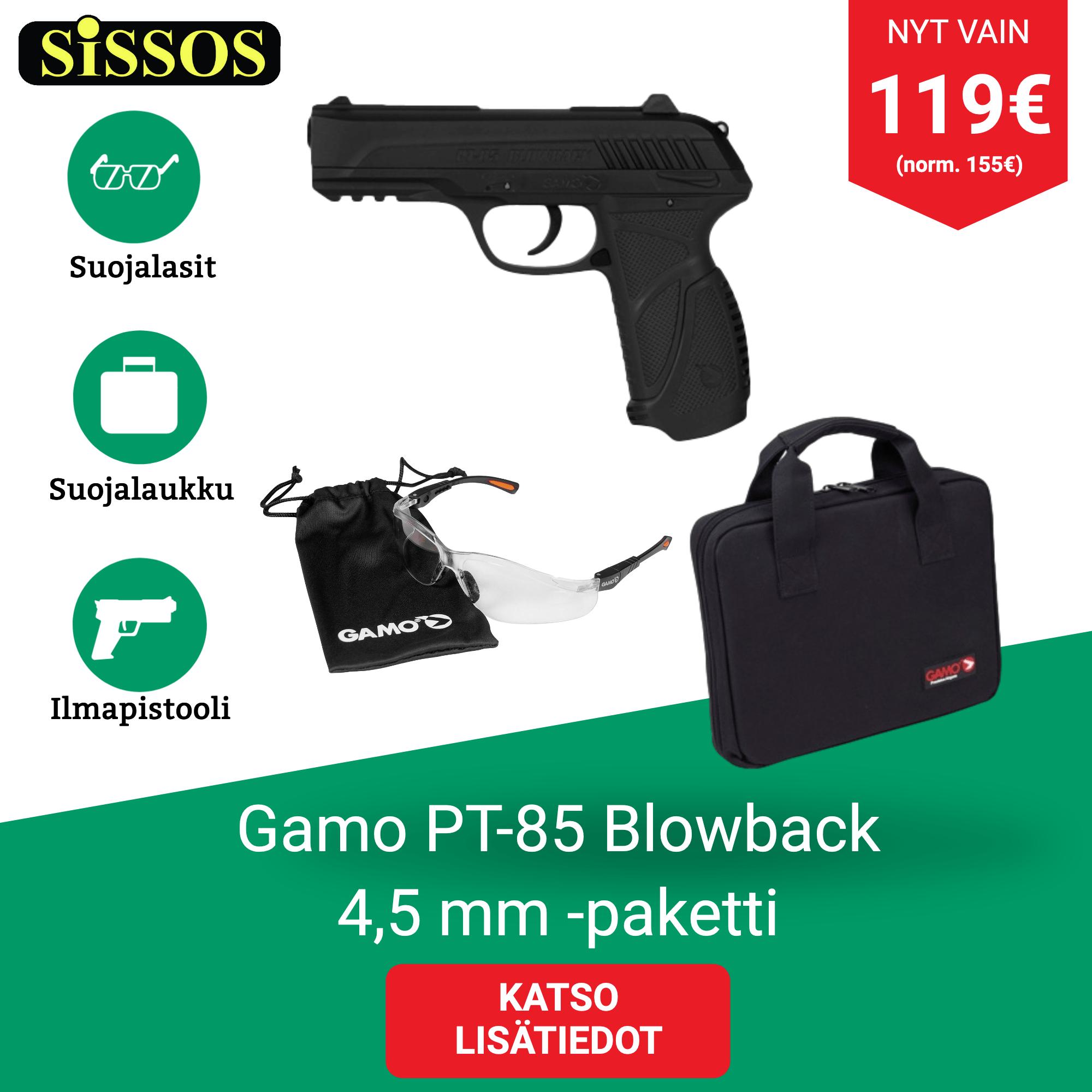Gamo PT-85 Blowback -paketti